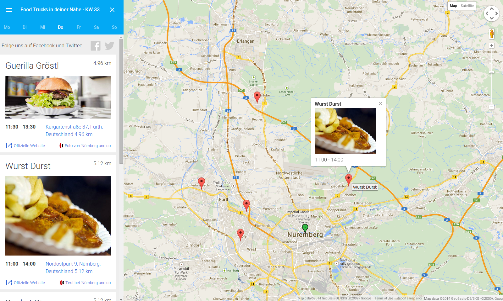FoodTrack.de Screenshot